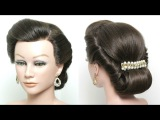 Twist And Pin Updo. Rolled Hairstyle For Long Medium Hair Tutorial