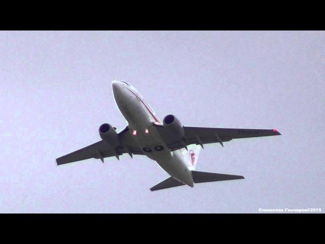 Air Algerie Boeing 737-600 7T-VJT Взлет из Шереметьево. SVO