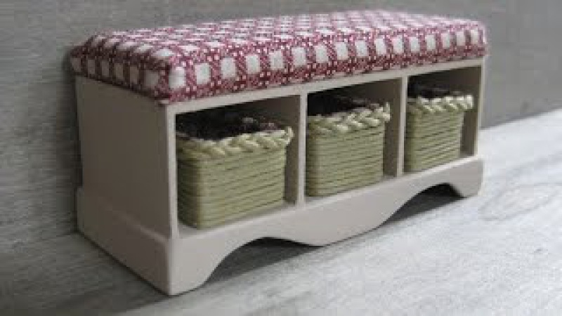 1/12th Scale Dolls House Storage Bench with Baskets Tutorial Part One