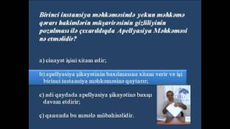 ABA CEELI --Vəkilliyə namizədlər üçün hazırlıq kursları - Məşğələ 10 (1)