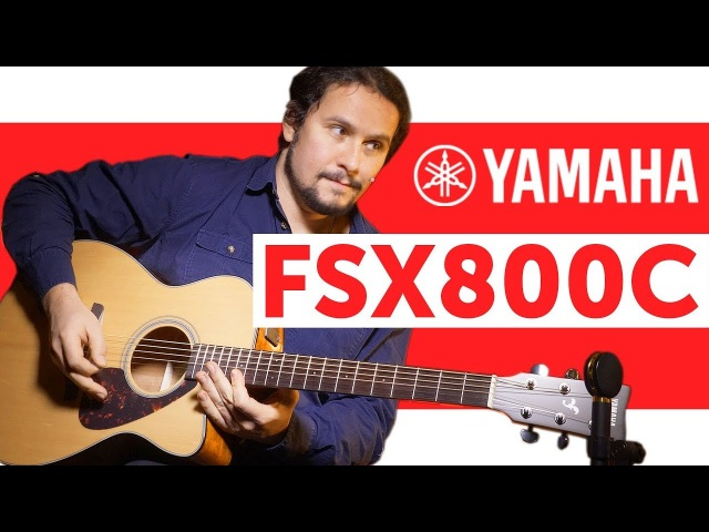 Акустическая гитара YAMAHA FSX800C. Обзор концертного инструмента с пьезодатчиком.