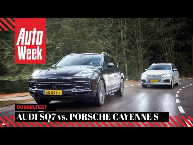Audi SQ7 vs. Porsche Cayenne S - AutoWeek Dubbeltest - English subtitles