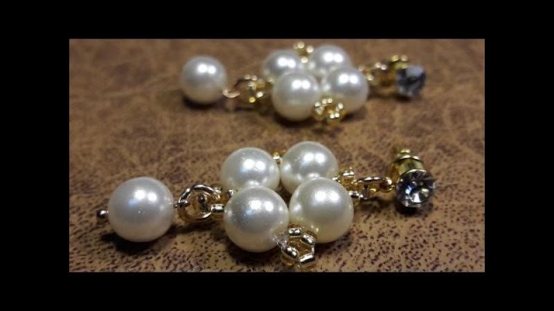 Aros de 5 perlas...Clase 18