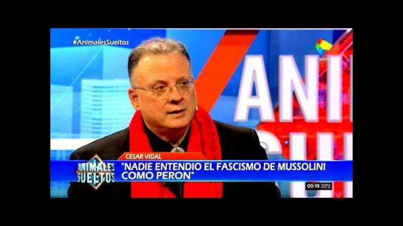 César Vidal con Fantino: Nadie entendió el fascismo de Mussolini como Perón @DifusionInfo