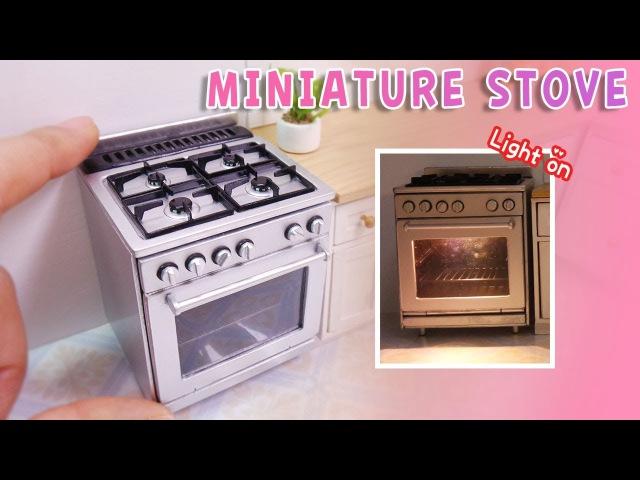 돌하우스 주방 07 DIY Doll miniature stove tutorial 불이켜지는 미니어쳐오븐만들기