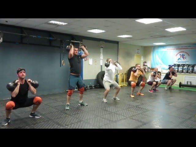 Гиря Ка4. Гиревой кроссфит комплекс, 16.5 (вариант), Kettlebell CrossFit Wod. Череповец