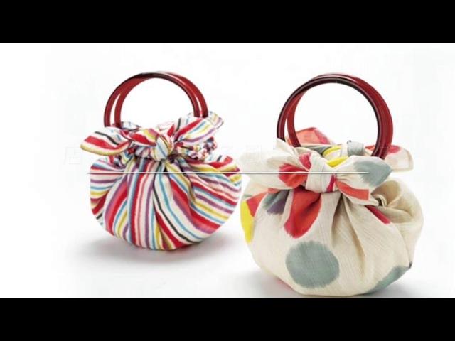 店舗で提案する風呂敷バッグ いちごバッグ  和雑貨卸問屋