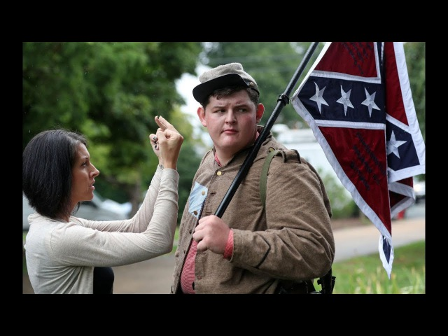 N.C. Man With Confederate Flag AR-15 Gets CONFRONTED By Protesters In Charlottesville!