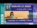 Booking a venue - 57 - English at Work books the room