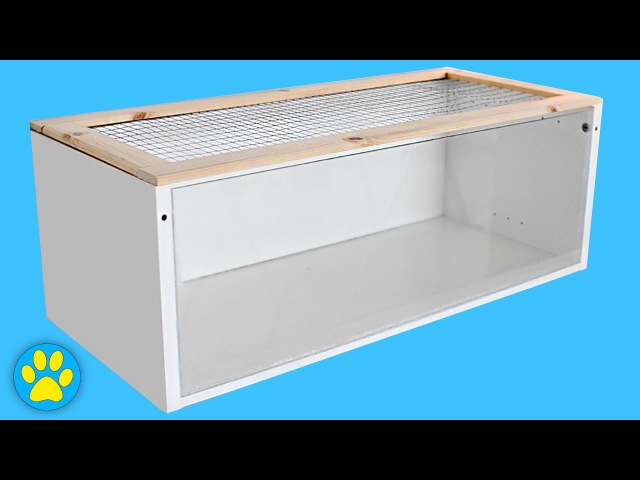 DIY Hamster Cage Ikea Billy Cage