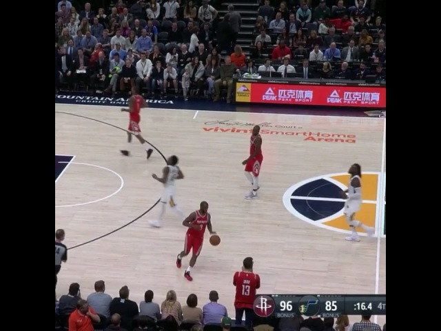 "House of Highlights on Instagram: ""CP3 gave James Harden's mom a high five with the game going on and got a turnover because she's out of bounds. 😂😂😂"""