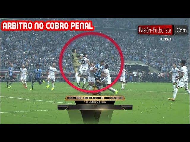 Gremio vs Lanus 1-0 ASÍ LE QUITARON EL PENAL A GREMIO Final ida Copa Libertadores 2017
