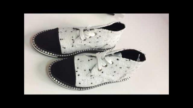Код 0027 Шикарные ботиночки в стиле CH@NEL