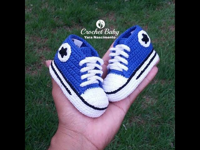All Star Cano Longo em crochê -Tamanho 09 cm - Crochet Baby Yara Nascimento