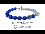Learn how to create the Bluesy Bracelet by Fusion Beads