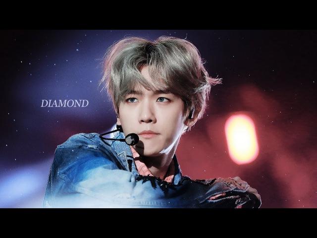 [4K FANCAM] 180111 EXO - Diamond (Baekhyun Focus) @ 32nd Golden Disk Awards