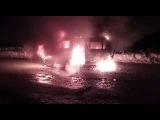 В Долинском районе горит  Mazda Bongo Friendee