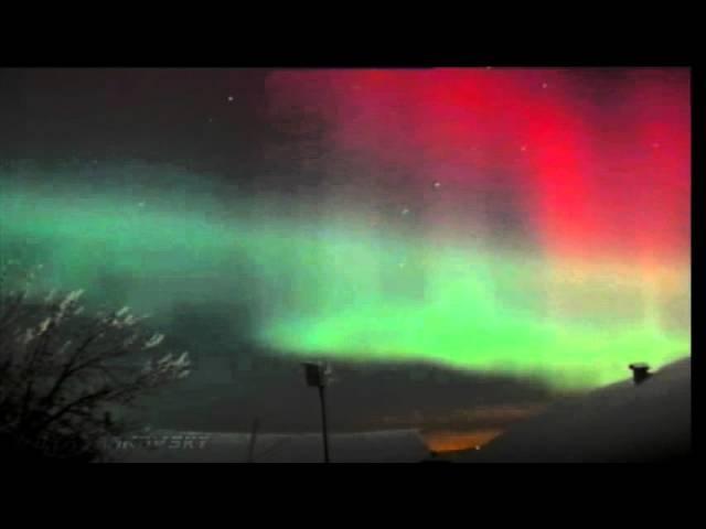 Полярное сияние   Таймлапс и живое видео