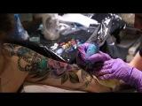 Процесс нанесения тату / Мастер татуировки в стиле неотрад - Татьяна Чудесатая