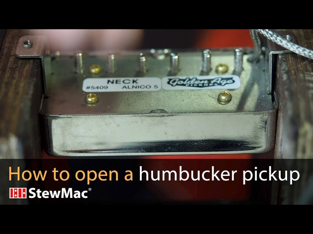 How to open a humbucker with a hammer!