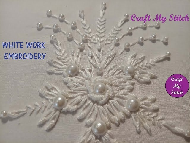Hand Embroidery - White work
