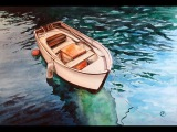 Watercolor Boat on a Clear Water Painting Demonstration