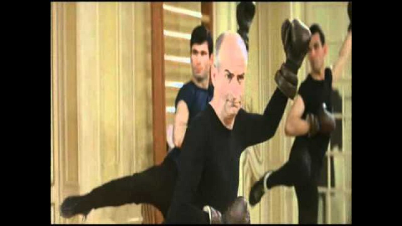 Louis de Funes practicing martial arts: SAVATE (1 of 2)