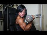 Kashma Maharaj, the lovely brunette female bodybuilder from Trinidad and Tobago