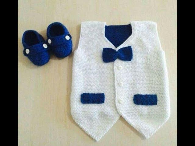 Erkek Bebek Yelek Modelleri - 2017 - Knit Baby Vest