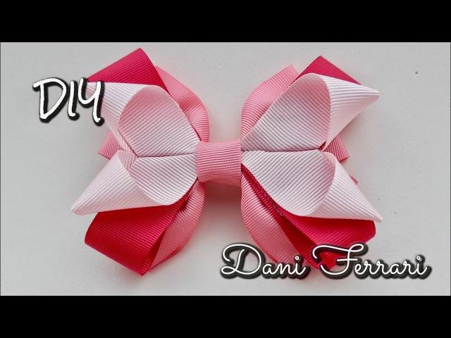 Laço coração geométrico - Tutorial passo a passo - Ribbon bow - Dani Ferrari.