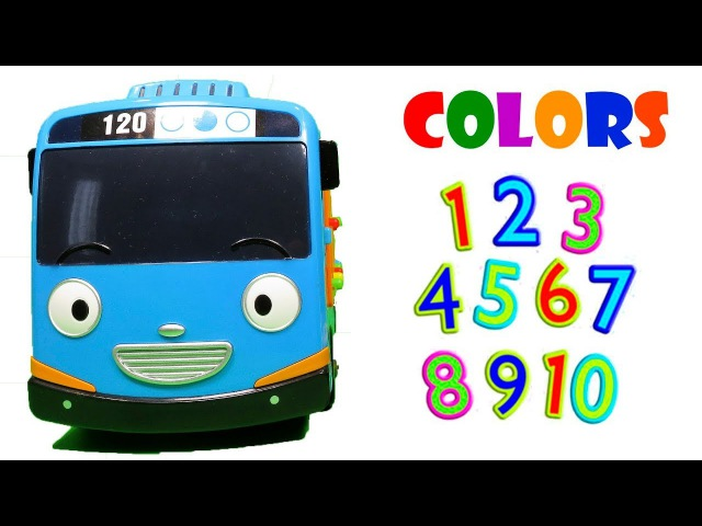 Toy Learn colors with Tayo Little Bus learning numbers for childrens toddlers kids 꼬마버스 타요