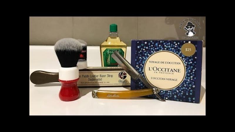 💈 Пена из баллона и бритье опасной бритвой L'Occitane Yaqi RazorRock Art Razor