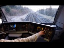 Awesome Train Journey in Switzerland (Europe) | Train Cab Ride View