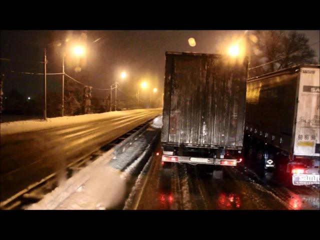 Будни дальнобойщицы: снежный экспресс-рейс в Москву.