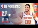 Enes Kanter Career Game 31 pts 22 rebs On Christmas Day vs The 76ers