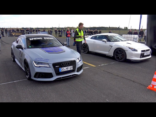 750HP Audi RS7 Sportback vs 1050HP Nissan GT-R R35 Switzer P800