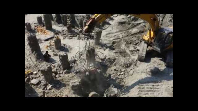 Beiyi hydraulic concrete pile breaker for excavator