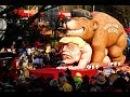 ✔ Русский медведь верхом на Трампе Розенмонтаг завершает в Германии сезон карнавалов