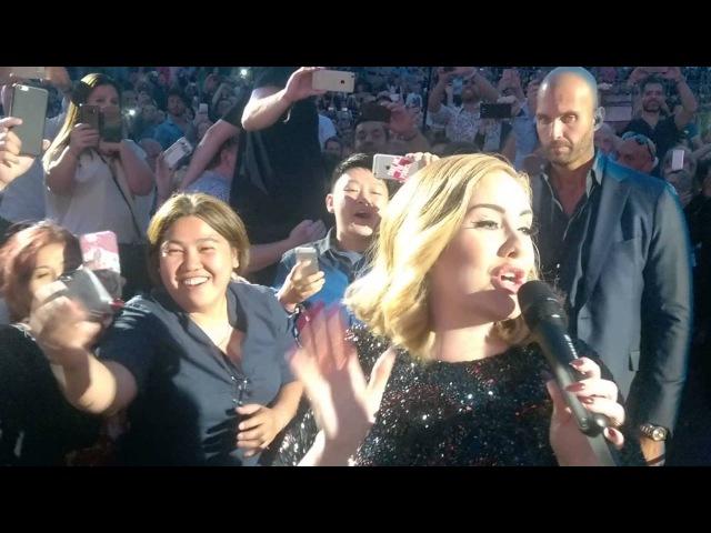 Adele - FANTASTIC CLOSE UP WALK PAST! in Verona Arena Italy - Hello Entrance 28th May 2016