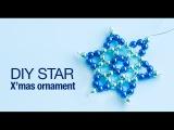 How to make christmas star ornament DIY star ornaments christmas decoration Beads art