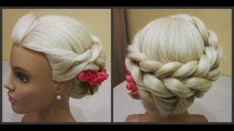 Классная прическа.Из косы Жгут Легкое плетение волос.Cool hairstyle.Easy to carry out