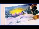 🎨Рисуем Зимний Пейзаж Гуашью Запись трансляции 27 11