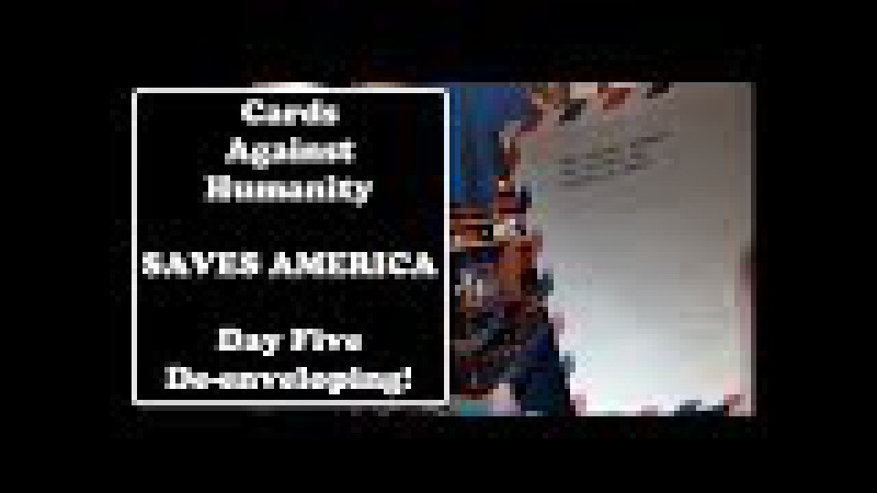 Cards Against Humanity Saves America, Day Five De-enveloping!