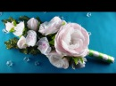 Bridal bouquet hairpins flowers Ramo de boda flores barrettes Букет невесты цветы заколки МК