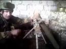 Миномет украинского карателя взорвался