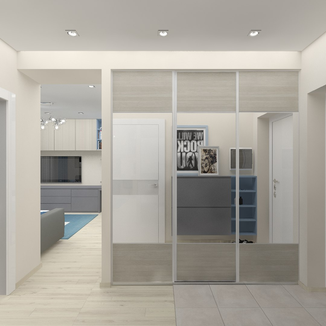 Проект однокомнатной квартиры 49 м2.