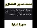 Шейх Мухьаммад Сиддикъ Аль Минщауий Къуръан Сура Аль Бакъара аят 82