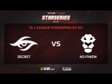 Team Secret vs AD Finem, Game 1, SL i-League StarSeries Season 3, EU