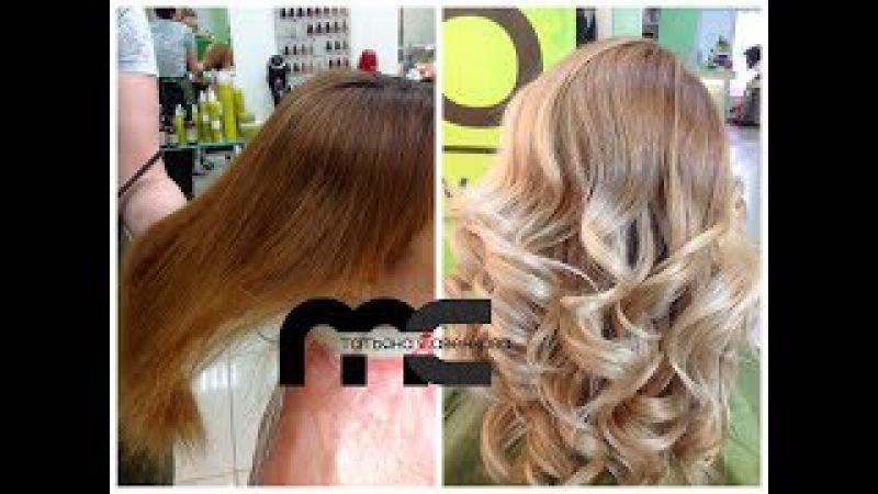 Волосы: окрашивание в блонд из рыжего From red to blonde hair coloring