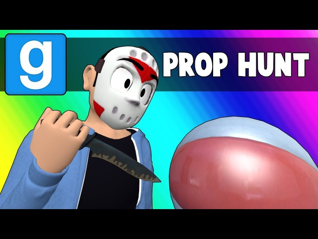 Gmod Prop Hunt Funny Moments - Crashing a Pool Party! (Garry's Mod)